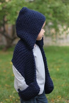 The Wesley Scarf pattern by Jenny Nicole – Knitting patterns, knitting designs, knitting for beginners. Kids Knitting Patterns, Baby Hats Knitting, Easy Knitting, Knitting For Kids, Knitting For Beginners, Crochet For Kids, Knitting Designs, Knitting Ideas, Hooded Scarf Pattern