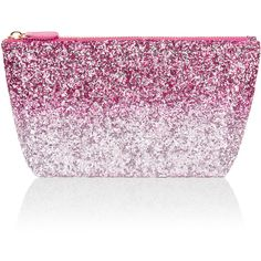 Accessorize Ombre Glitter Makeup Bag ($23) ❤ liked on Polyvore featuring beauty products, beauty accessories, bags & cases, make up purse, travel toiletry case, make up bag, cosmetic purse and makeup bag case