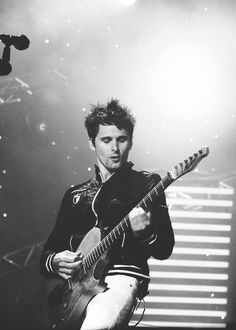 Matt Bellamy // Muse Man + Guitar = *swoon* And THAT VOICE!   I'm gone! lol