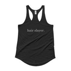 Hair Slayer, Ladies' Shirttail Tank – Salon Life Tee's