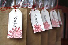 #Christmas #Gift tag idea