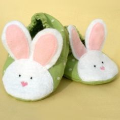 Baby Bunny Slippers | YouCanMakeThis.com
