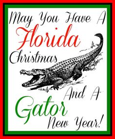 Florida Gator Christmas Magnet by jzoet on Etsy, $5.00