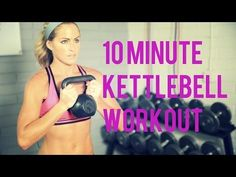 A 10 Minute workout that uses kettlebell exercises to sculpt those arms & abs and tone your legs. Kettlebell is a great tool to add diversity to your workout. New 4 Weeks to Fat Loss Program Here: source Kettlebell Training, Kettlebell Workout Routines, Kettlebell Workouts For Women, Full Body Workouts, Kettlebell Cardio, Beginner Workouts, 10 Minute Workout, Toning Workouts, Workout For Beginners