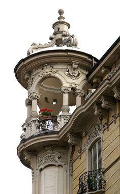 Torino, Via Duchessa Jolanda, Palazzo del Faro (Art nouveau house), province of Turin , Piemonte region,
