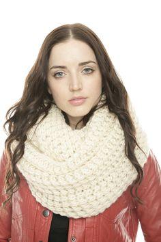Heavy Knit Infinity Scarf.