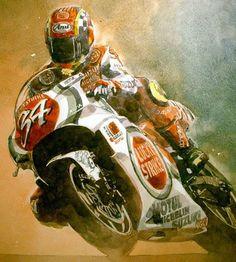 Ottonero Cafe Racer: Masakura Flat Track Motorcycle, Motorcycle Posters, Suzuki Motorcycle, Motorcycle Art, Valentino Rossi, Gp Moto, Motorbike Parts, Cafe Art, Automotive Art