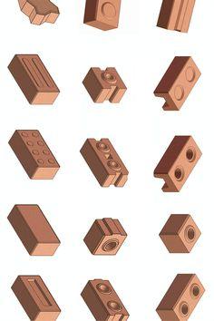 Brick Lego, Metal Bending Tools, Interlocking Bricks, Lego Blocks, Clay Soil, Making Machine, House Projects, Ph, Building A House