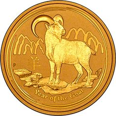 2015-P $5 1//20oz Gold Australian Year of the Goat .9999 fine BU