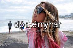 dip dye my hair