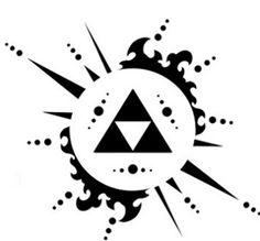 Tatuajes del triángulo de Zelda| la Trifuerza - Tendenzias.com