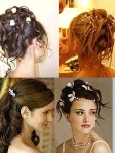 Coiffure Mariage Haute In 2021 Hair Styles Wedding Hairstyles Hairstyles With Bangs