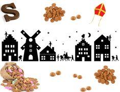 Sinterklaas huisjes silhouette Silhouette Cameo, Flocking, Seasons, Halloween, Holiday, Kids, Crafts, Workshop, Cricut