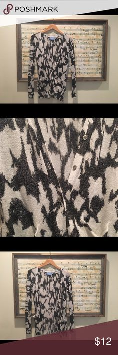 Simply Vera Wang cardigan Dressy and classy black and silver cardigan by Simply Vera Wang. Excellent used condition. Lightweight. Dressy. Simply Vera Vera Wang Tops