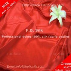 http://www.silkfabricwholesale.com/12mm-silk-crepe-de-chine-fabric-scarlet.html    F.D. silk most professional 12mm silk crepe de chine fabric-scarlet supplier.