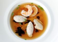 Smoked pheasant consomme ecaille d' argent oyster and poached prawn by Chef Vincent Thierry of Caprice, Four Seasons Hotel (Photo: K.Y. Cheng/SCMP)