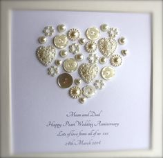Golden Wedding Anniversary Gift Ideas For Parents Uk : + ideas about Pearl Anniversary on Pinterest 30 Wedding Anniversary ...