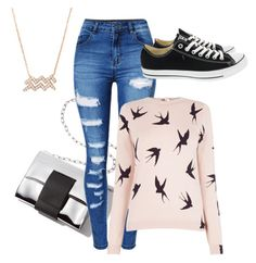 """""""Untitled #2537"""" by samanthay7 ❤ liked on Polyvore featuring WithChic, Oasis and Converse"""