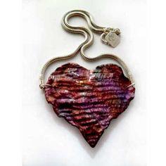 Mixed Media Heart Necklace