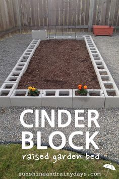 How to Build a Cinder Block Raised Garden Bed There's nothing like growing your own food! A Cinder Block Raised Garden Bed is easy to build and will give you years of use! Need a tomato? Go pick one! Green beans for dinner? No problemo! Raised Bed Garden Design, Diy Garden Bed, Building A Raised Garden, Garden Boxes, Garden Kids, Cinder Block Garden, Cinder Blocks, Garden Planning, Garden Projects