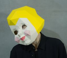 Cupid Paper Mask, Valentines Day Gift, DIY Angel Head, Baby face, Instant Pdf , Paper Mask, 3D Polygon Masks, Low Poly Papercraft Face Mask Pages: 26  Difficulty:hard  What do I get if I buy one of your products?  You will get:  - Instant download file containing mask pattern and instructions - Instructions in English - Help File with illustration of the building steps - Fitting instructions.   Are the masks coloured?  No, our mask patterns are not coloured. You need to glue the patterns on…