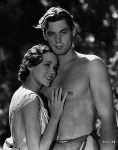Maureen O'Sullivan and Johnny Weissmuller in Tarzan the Ape Man (1932).