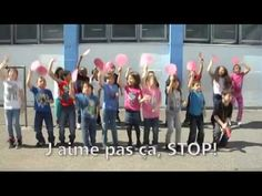Tous unis pour dire non à l'intimidation – that's the anti-bullying in schools call to rally. This little song says and does a lot and it's good that you can teach French an… Core French, French Class, French Lessons, Anti Bullying Lessons, Anti Bullying Activities, World History Teaching, World History Lessons, Learning French For Kids, Teaching French