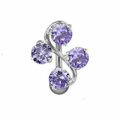 """Top Down Fancy Gem Vine Belly Navel Ring Tanzanite Gems Reverse Button Piercing Jewelry BYB Belly Rings. $4.99. Brand New; Size: 14G 3/8""""; Metal: Stainless Steel; High Quality"""