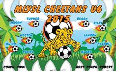 Cheetahs-MLYSL-44275  digitally printed vinyl soccer sports team banner. Made in the USA and shipped fast by BannersUSA. www.bannersusa.com