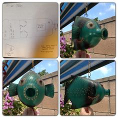 Art & Craft Idea : 2 Liter Decorative Fish I learned this when I was in High School and it was so much fun to make. My 4 year old asked me to teach him to make it. I decided to let everyone else see how its made as well. Hope you enjoy it; ask questions if needed :)