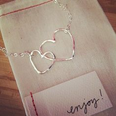 connected hearts necklace by lisa leonard!!