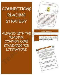 Connections Common Core Reading Resource product from Wise-Guys on TeachersNotebook.com