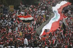 Baghdad (AFP) – Thousands of supporters of populist Iraqi cleric Moqtada Sadr gathered in Baghdad on Friday for a rally Iraqi People, Tahrir Square, Cleric, National Flag, Photos Of The Week, Cool Photos, The Unit, Baghdad Iraq, Beirut