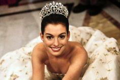SEVENTY FIVE: Anne Hathaway accidentally fell off of her chair during her audition for the role of the klutzy princess in The Princess Diaries. She was hired on the spot.  #100momentsofhappiness in #Hollywood