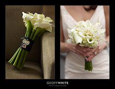 calla lily and hydrangea bouquet