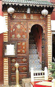 Beautiful door in Marrakech, Morroco , from Iryna