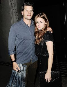 Holland Roden and Max Carver