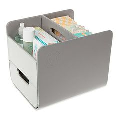 The Honest Company Diaper Caddy in Grey - buybuyBaby.com