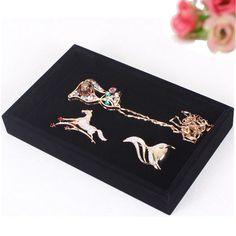 Sale 16% (6.62$) - Black Bracelet Necklace Storage Organizer Show Case Jewelry Display