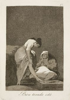 Francisco de Goya - It Is Nicely Stretched (Etching and Aquatint, 1797-99)