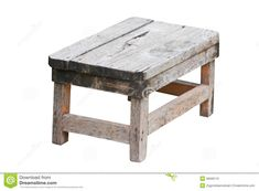 Old Wooden Stool. For orchid in bathroom. Stock Photo - Image: 36580110