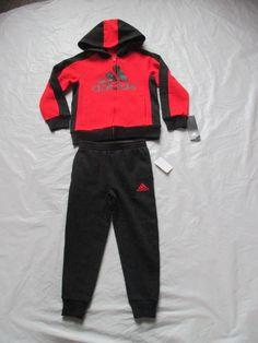 2a6e53a2b Adidas Track Suit Boys 2 Piece Set Red Blue AG6138 AR04 MA CA1 Size 4 and  up #adidas #DressyEverydayHoliday