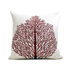 Wine Tree Embroidery Cushion Cover
