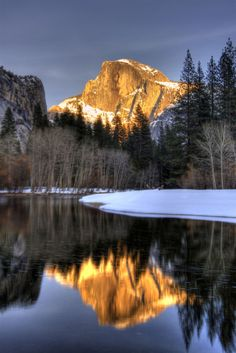 Half Dome at sunset in Yosemite Valley, Yosemite NP, California by stevewhis on flickr