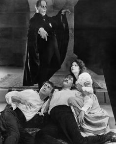 Lon Chaney, Arthur Edmond Carewe, Norman Kerry, and Mary Philbin in The Phantom of the Opera 1925