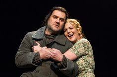 Bryn Terfel as The Dutchman and Adrianne Pieczonka as Senta in Der fliegende Holländer © ROH 2015. Photo by Clive Barda   by Royal Opera House Covent Garden
