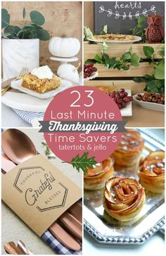 If you're struggling with how you want to set up your table or are trying to nail down those last few perfect recipes for Thanksgiving, here are… 23 Last Minute Thanksgiving Time Savers! 23 Last Minu Thanksgiving Traditions, Thanksgiving Tablescapes, Thanksgiving Parties, Thanksgiving Decorations, Thanksgiving Recipes, Fall Recipes, Nutella, Savory Pumpkin Recipes, Food Themes