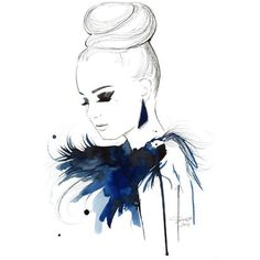 Watercolor Art via Polyvore