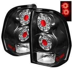 Chevy Trailblazer Led Tail Lights Pair Black