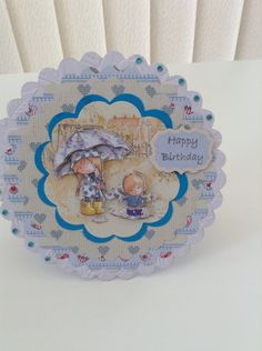 Scallop circle rocker card using Tilly Daydream ultimate paper collection